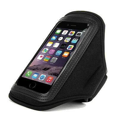 Black Waterproof Sports Gym Running Jogging Armband Case for iPhone XS X 8 7 6S