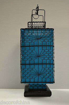 Nice Asian Chinese Blue Fabric Lantern Feng Shui Home Decoration Party Gift