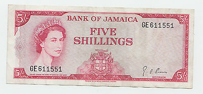 JAMAICA 5 Shillings 1960 (1964) VF+ P 51Ad (sig. 4)