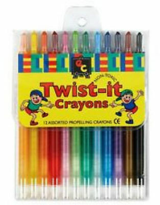 Twist-it  Crayons 12 Assorted Colours