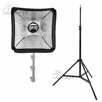 Portable 60cm Soft Box Flash Speedlite Diffuser Stand Tripod Kit for Speedlight
