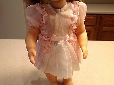 """Vintage Terri Lee Doll Clothes  Fits 16"""" Doll Little Lady Pinafore 1950's Dress"""