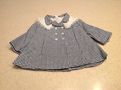"""Vintage Terri Lee Doll Clothes  Fits 16"""" Doll Black White Jacket Coat Great!!"""