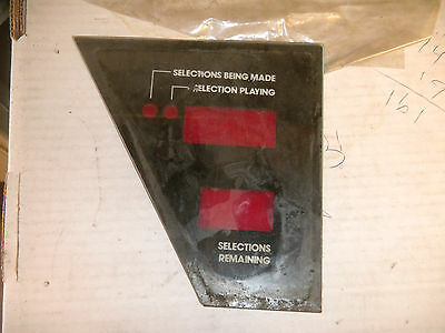 ROWE SELECTION GLASS  COVER USED     jukebox PART CF46-B1-4