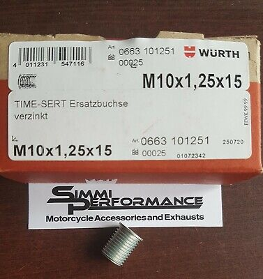 1 x WURTH M10 x 1.25 TIME SERT INSERT  16.5mm length  - for Thread Repair