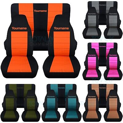 Remarkable Jeep Wrangler Yj Tj Jk Jl 1987 2020 2 Tone Seat Covers Your Gmtry Best Dining Table And Chair Ideas Images Gmtryco