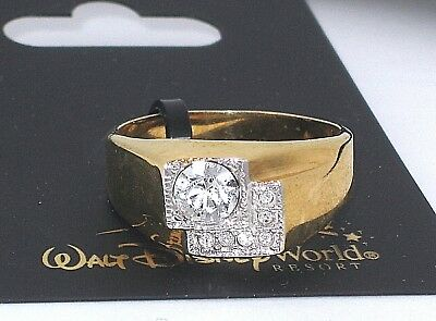 New Arribas Brothers✿Crystal/Gold Ring✿Band✿Walt Disney World Authentic✿Size 13