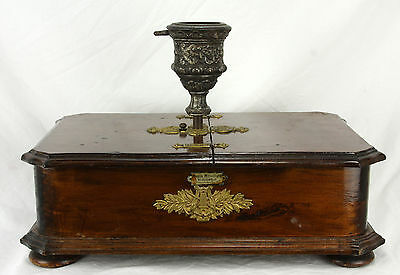 Antique German Musical Rotating Christmas Tree Stand with Records ca1890
