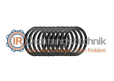 O-Ring Nullring Rundring 33,0 x 3,5 mm NBR 70 Shore A schwarz (10 St.)