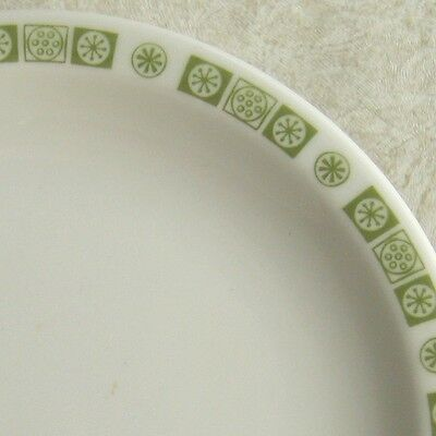 Buffalo China Atomic Snowflake Green Bread & Butter Plate Restaurant Ware BUF119
