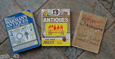 Vintage Lot of 3 Warman's Antiques Paperback Price Guides 1958 1976 1985