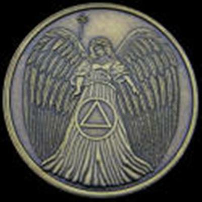 Recovery AA NA CA Guardian Angel Medallion tokens sobriety affirmation Angels