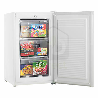New 80L HELLER Upright Chest Freezer - Reversible Door