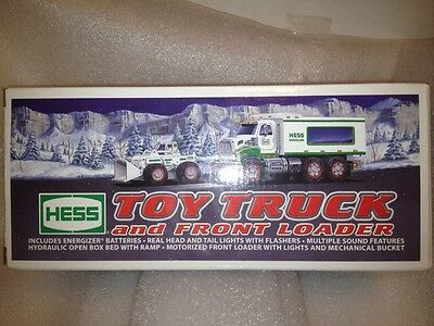 Hess 2008 Hess Toy Truck And Front Loader With 2 Packs Of Batteries Brand New!