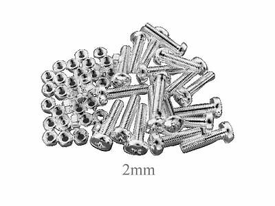 5mm M5 Machine Screws/Bolts and Nuts Pozidrive/Pozi Pan Head