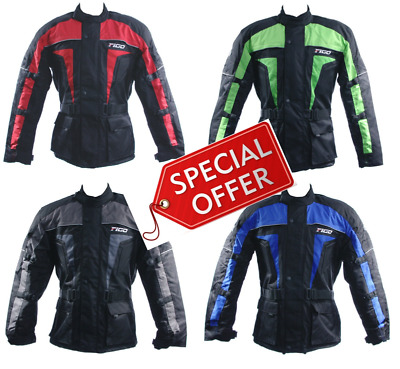 4141 Motorbike Motorcycle Textile Short Breathable Jacket Attachment Zip