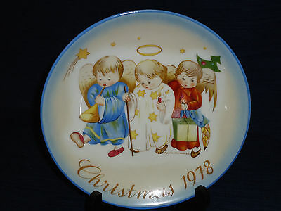 "Schmid Hummel 7.75"" Collector's Plate CHRISTMAS 1978 ANGELS West Germany"