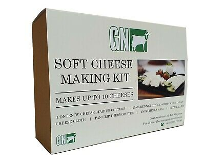 Cheese Making Kit - Vegetarian Rennet, Culture, Thermometer and Cheesecloth