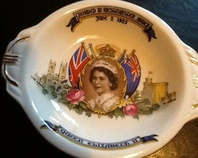 VINTAGE Royal Queen Elizabeth Coronation 1953 Photo Dish/Plate Aynsley China