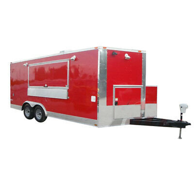 Concession Trailer 8.5' x 18' Red - Event Ice Cream Smoothie Catering