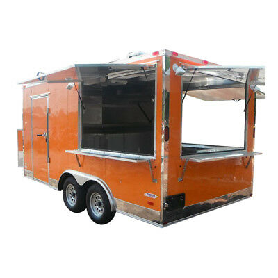 Concession Trailer 8.5'x16' Orange - Catering Food BBQ Event