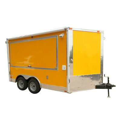 Concession Trailer 8.5'x12' Yellow - BBQ Food Event Vending Restroom