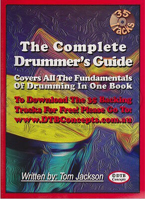 New The Complete Drummer's Guide Book & CD - Drums Tuition