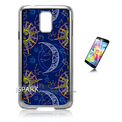 Best Moon and Sun Samsung Galaxy S5 Silver Print Case Cover S2275 S