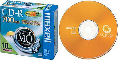 10 Maxell JAPAN Blank CD-R for Data Super Master Quality 700MB CDR 48x