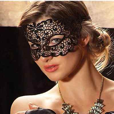 Black Lace Soft Mask Sexy Italy Masquerade Costume Halloween