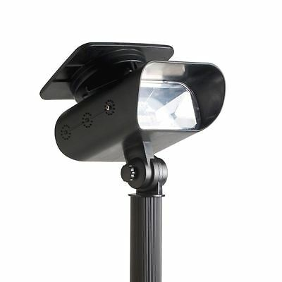 Quality Solar Powered Garden LED Spotlight Spot Light Deck Wall Stake Mounting