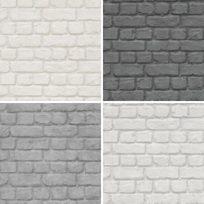 New Rasch Brick Stone Wall Realistic Faux Effect Textured Photo Mural Wallpaper