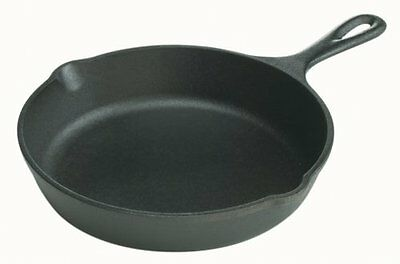 Lodge Preseasoned Rugged Cast Iron 8 Inch Skillet Frying Pan Campfire Cookware