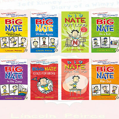 Big Nate Series Collection 8 Books Set,Big Nate Strikes Again By Lincoln Peirce