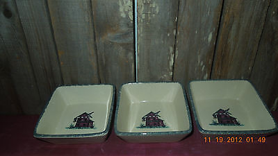 Home & Garden Party Birdhouse Stoneware Square Dish