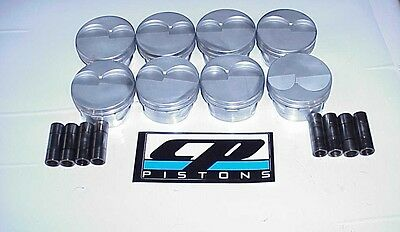 """CP Gas Ported SB 18° Chevy Pistons & 8  .927  PINS 4.150"""" Bore 1.062"""" CH MH"""