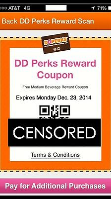 Dunkin Donuts Monthly Unlimited Perks Pass - Free Medium Coffees