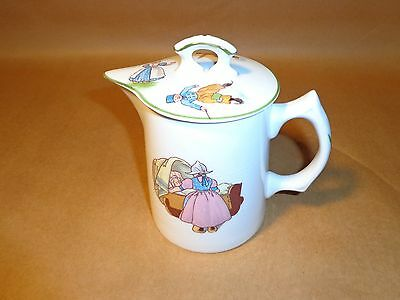 early 1900's KNOWLES china MILK cream pitcher,DUTCH SCENE'S..UNBELIEVABLY CLEAN