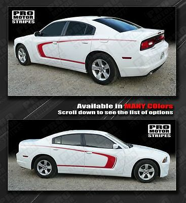 Dodge Charger 2014 Side Scallop Bumblebee C Stripes 2011 2012 2013 Decals