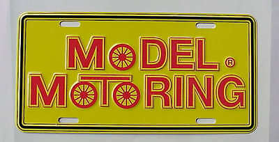 MODEL MOTORING LOGO LICENSE PLATE REPRODUCTION