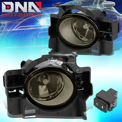 For 08-10 Altima Coupe L4 V6 Base Smoke Bumper Fog Lights/Lamps+Bulbs+Switch
