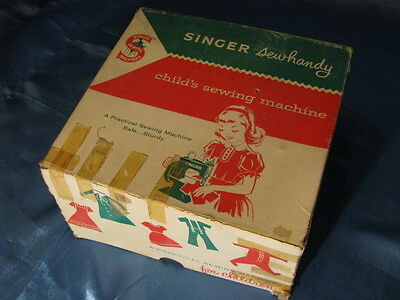 SINGER SEWHANDY CHILDS SEWING MACHINE TAN COMPLETE WORKS! GREAT BRITAIN