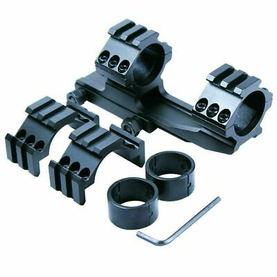 "Tactical 30mm / 1"" PEPR Cantilever Rifle Scope Mount Extra Tri-rail Rings Black"