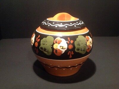 Vintage Ukraine Crock Pottery With Lid Collectable