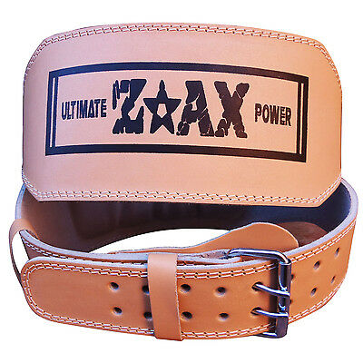 """4"""" WIDE Leather Weight Lifting Belt Gym Training Back Support Body Building Belt"""