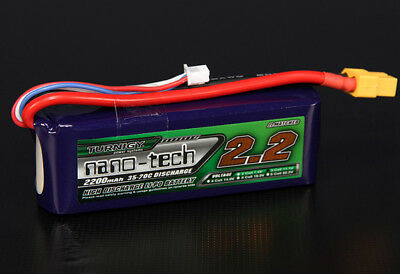 RC Turnigy nano-tech 2200mah 3S 35~70C Lipo Pack