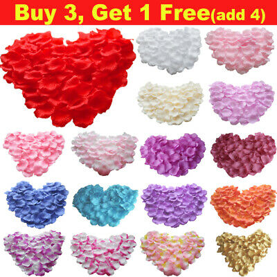 2000pcs Silk Rose Flower Petals For Engagement Wedding Decoration Confetti Table