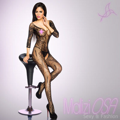CATSUIT Bodystocking Rete Aperta Ouvert SEXY Hot Lingerie Body Tutina