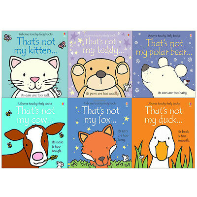 That's not my touchy feely series 7 & 8 :6 books collection Cow FoxDuck Teddy