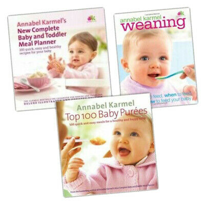 Annabel Karmel Weaning 3 Baby Books Collection Set Paperback Brand new